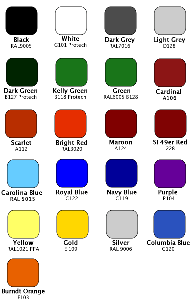 facemask color chart